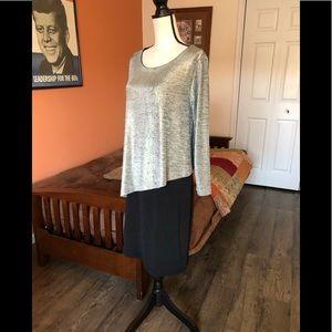 NALLY & MILLIE black skirted shimmery top dress